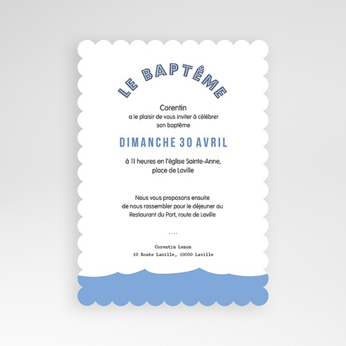 Faire-part Baptême Garçon - Noé 49171 thumb