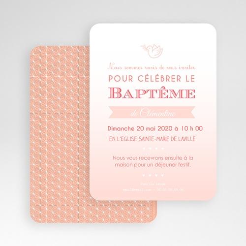 Faire-part Baptême Fille - Effet Dégradé Rose 49211 preview