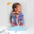 Faire-Part Naissance Fille UNICEF - Piou Rouge 49224 thumb