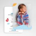 Faire-Part Naissance Fille UNICEF - Piou Rouge 49226 thumb