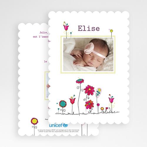 Faire-Part Naissance Fille - Fleurs de Bonheur 49235 preview