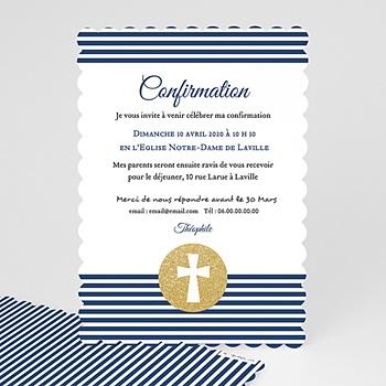 Carte invitation confirmation Confiance en l'Eternel