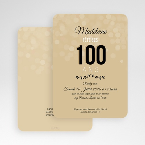 Invitation Anniversaire Adulte - 100 ANS ! 49274 preview