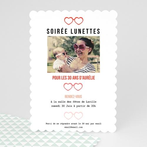 Invitation Anniversaire Adulte - Soirée Lunettes 49275