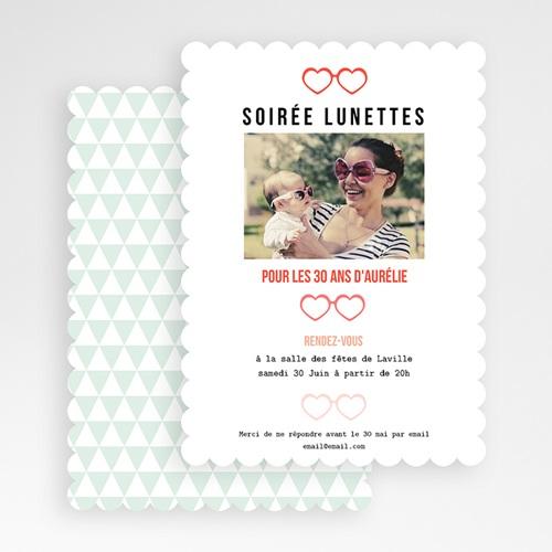 Invitation Anniversaire Adulte - Soirée Lunettes 49277 thumb