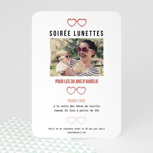 Invitation Anniversaire Adulte - Soirée Lunettes 49278