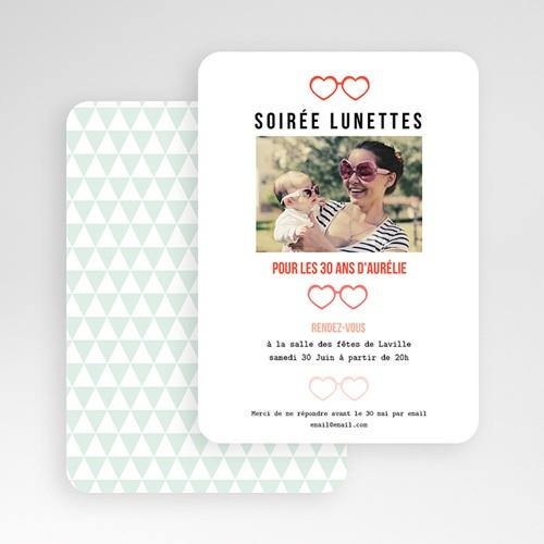 Invitation Anniversaire Adulte - Soirée Lunettes 49280 thumb