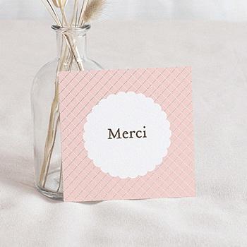 Carte remerciement naissance fille Hérissonne