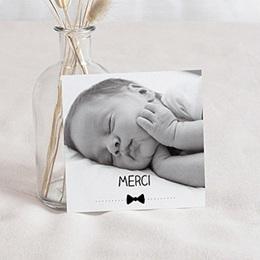 Carte remerciement naissance garçon Noeud Papillon