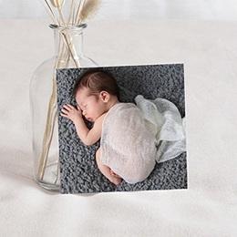Carte remerciement naissance fille Tableau avec décors