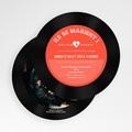 Faire-part mariage rond Disque Vinyl gratuit