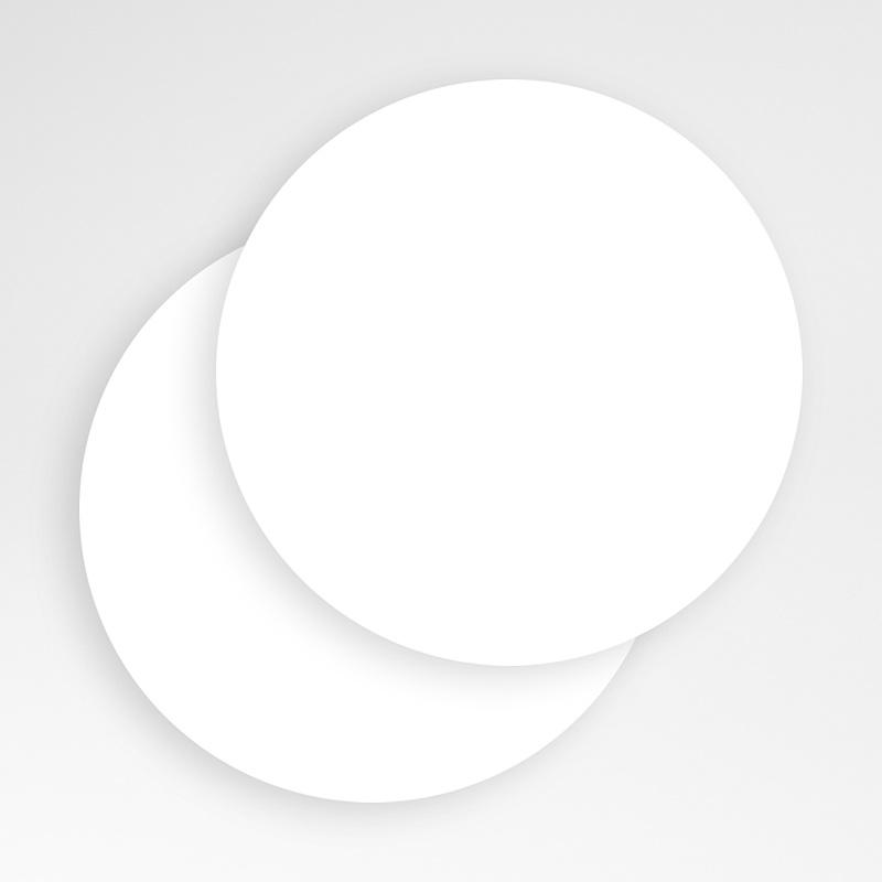 Faire-Part Naissance Vierge rond 14 cm de diamètre à personnaliser gratuit