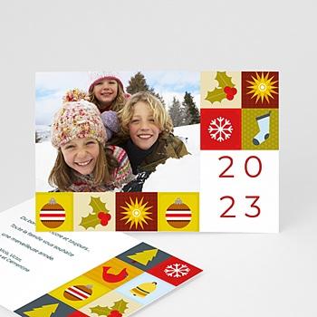Carte de voeux Bonne année Mandalas de Noë personnalisé