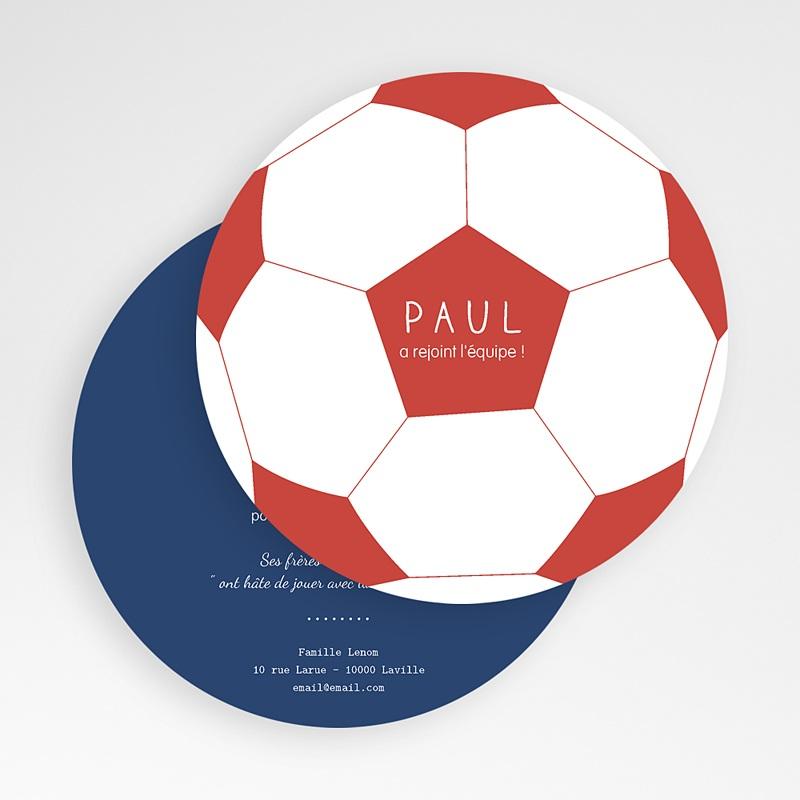 Faire-Part Naissance Garçon Ballon de Foot gratuit