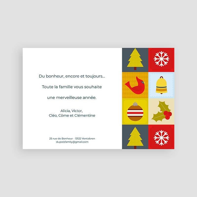 Carte de Voeux Bonne année Mandalas de Noël pas cher