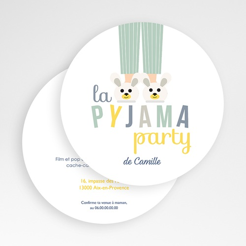 Invitations Anniversaire Garçon - Pyjama Party 49442 preview