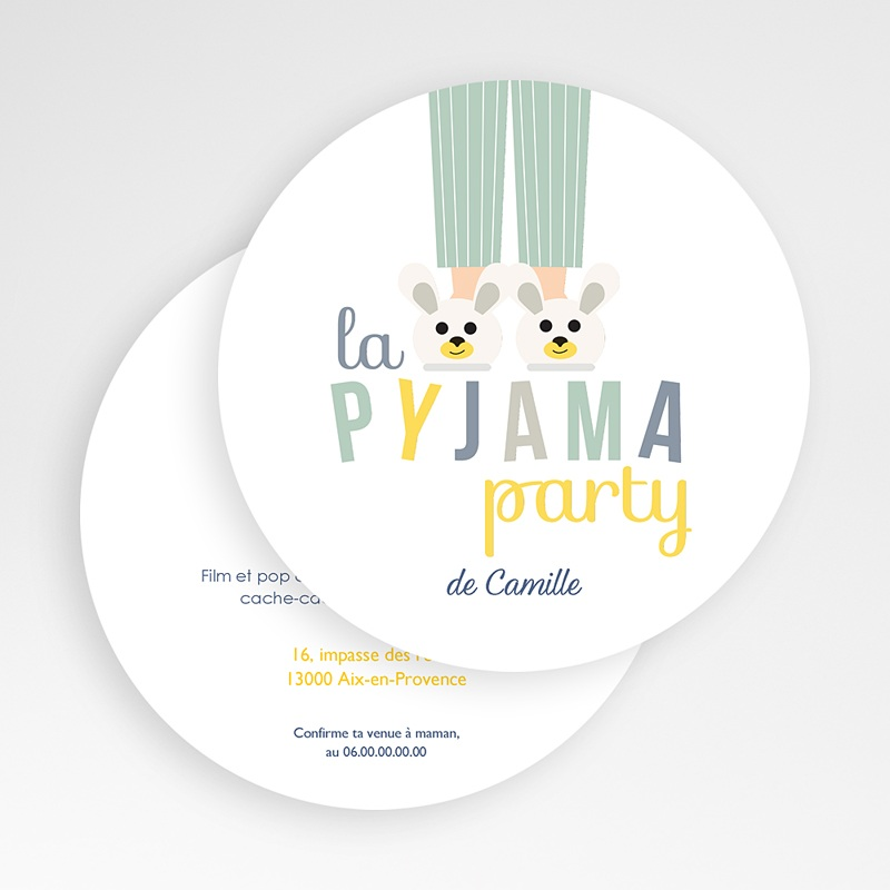 Connu Invitations Anniversaire Garçon - Pyjama Party | Carteland.com DP05