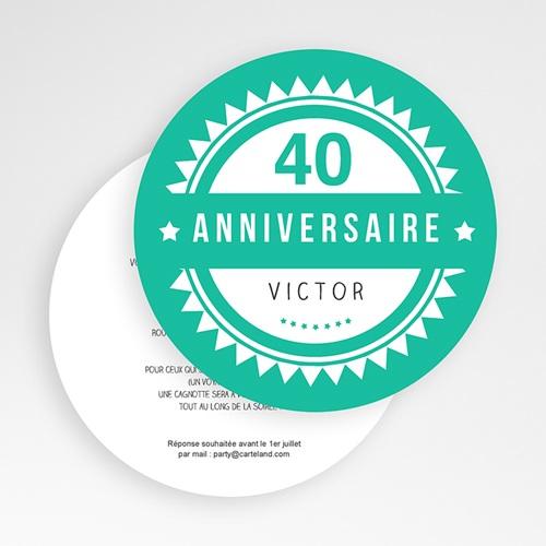 Invitation Anniversaire Adulte - Vintage vert 49443 thumb
