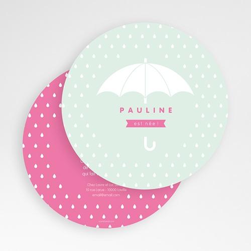 Faire-Part Naissance Fille - Pluie de bonheur 49449 preview