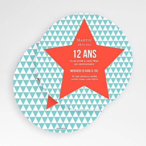 Invitations Anniversaire Garçon - Etoile Orange 49450 preview