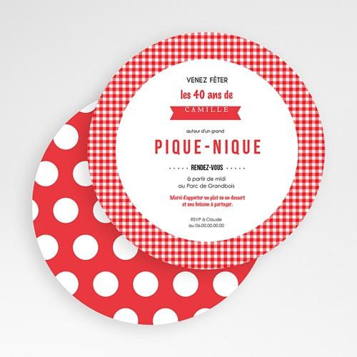 Invitation Anniversaire Adulte - Pique-Nique 49452 thumb