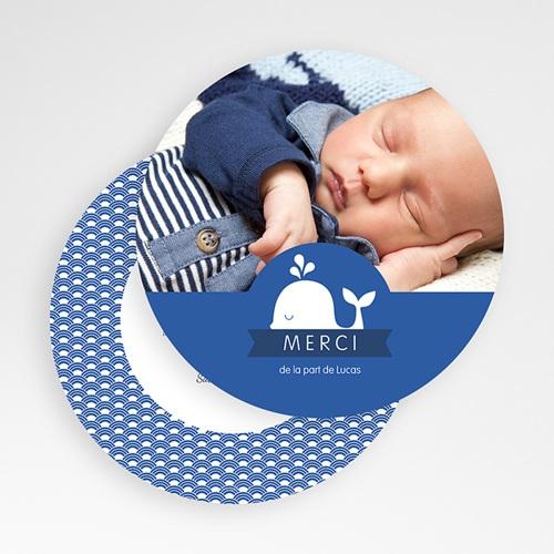 Carte remerciement naissance garçon Baleineau gratuit