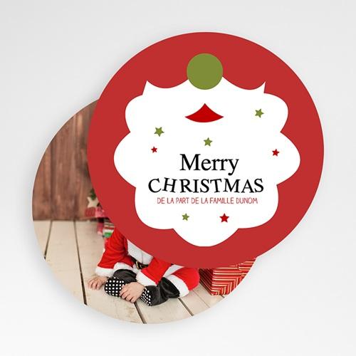 Carte Noël Merry Christmas Barbe du Père Noel gratuit