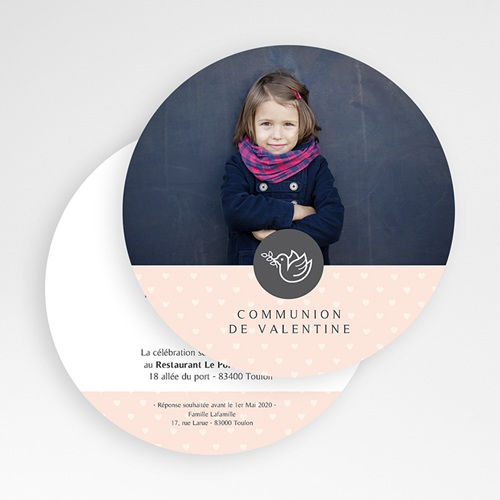 Faire-Part Communion Fille Sainte Eucharistie gratuit