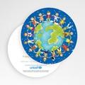 Faire-Part Naissance Fille UNICEF - Ronde enfantine 49464 thumb