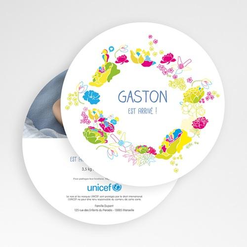Faire-Part Naissance Garçon UNICEF L'été en fête gratuit
