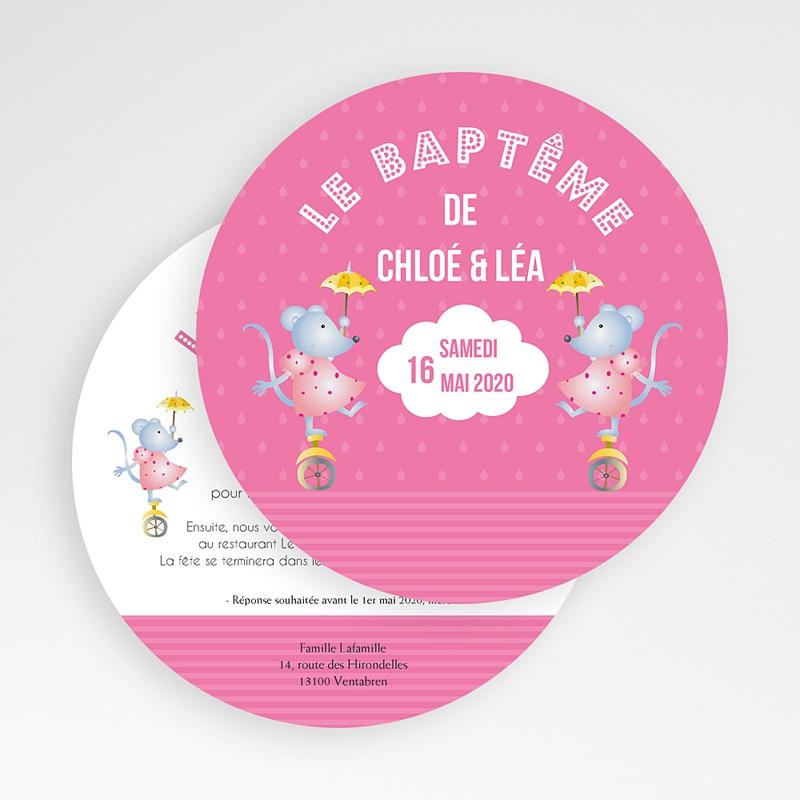 Tous les Faire-part Baptême Mesdames Souris gratuit