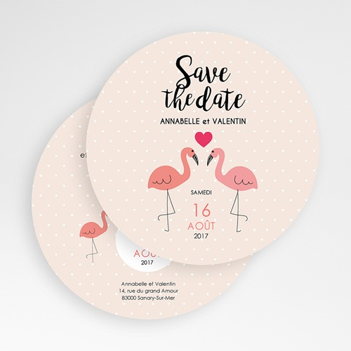 Save-The-Date - Flamant rose 49495 preview