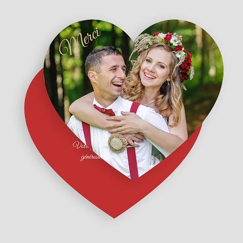 Remerciement mariage original - Merci Coeur Rouge 49528 thumb