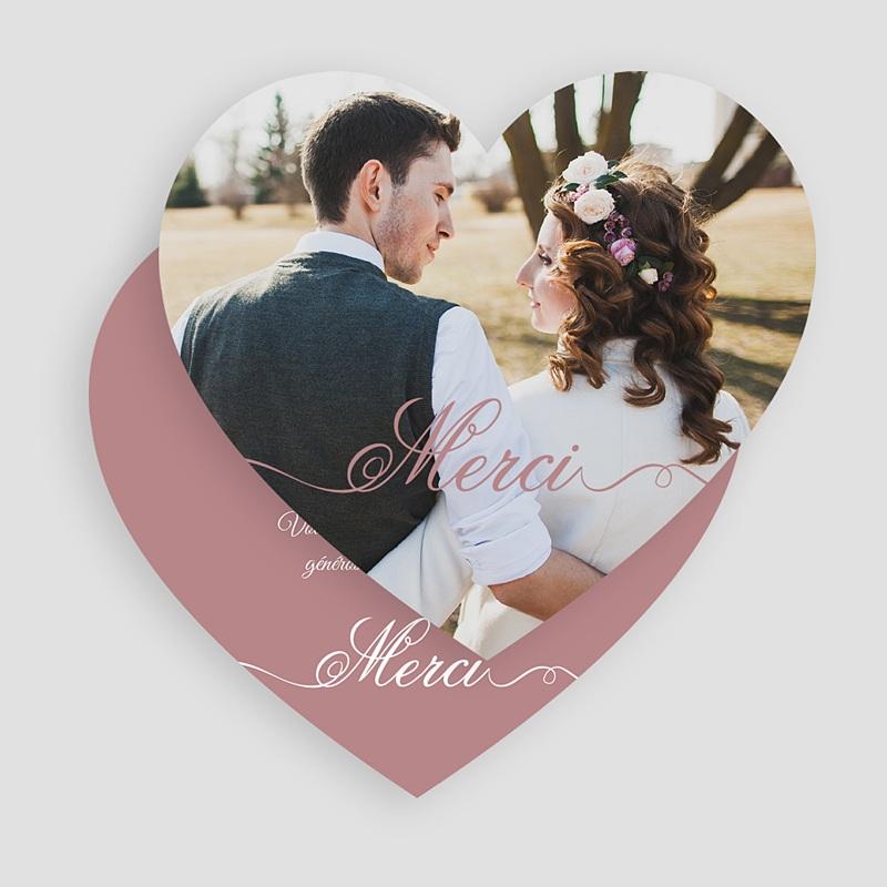 Remerciements Mariage Personnalisés de tout notre coeur gratuit