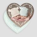 Faire-part naissance jumeaux Double coeur gratuit