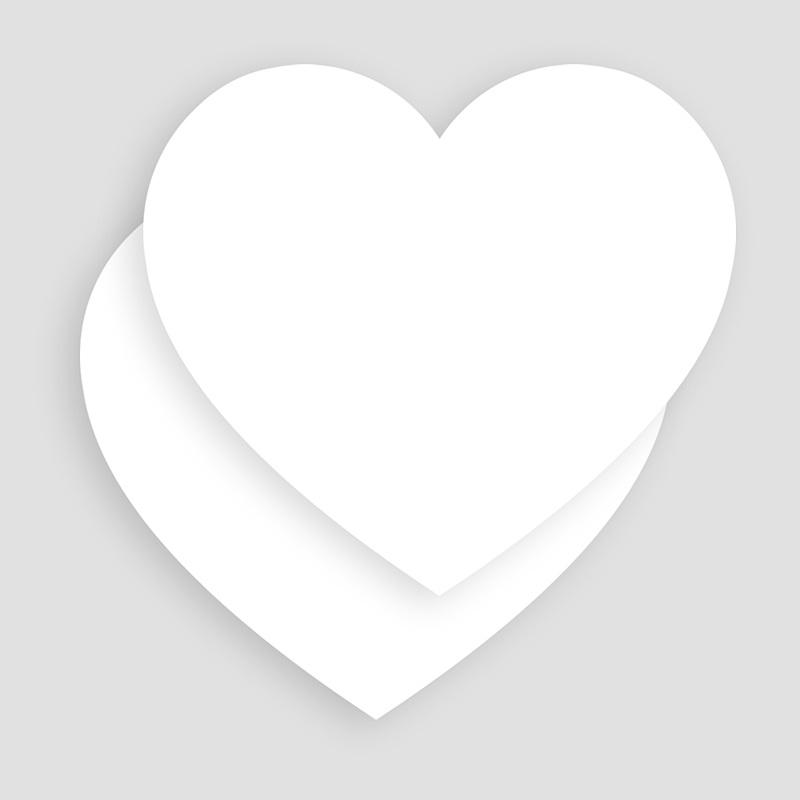 Faire-Part Naissance Vierge coeur 14 cm x 13 cm à personnaliser  gratuit
