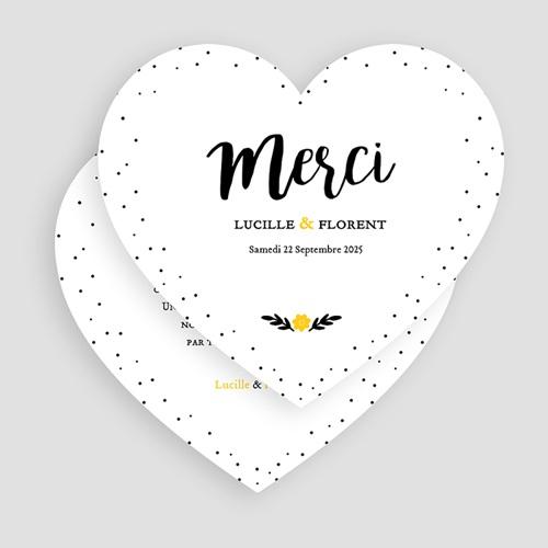 Carte Remerciements Mariage Mercy gratuit