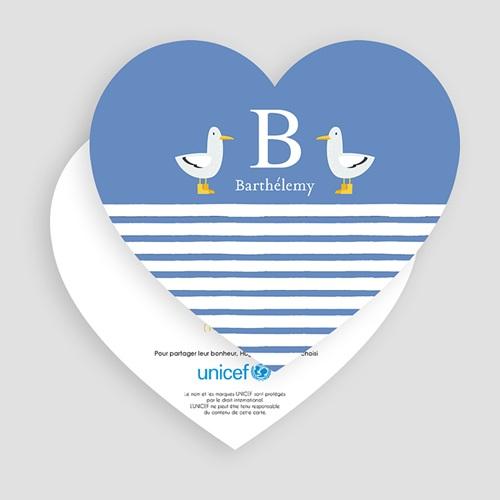 Faire-Part Naissance Garçon UNICEF Lettre pour lui gratuit