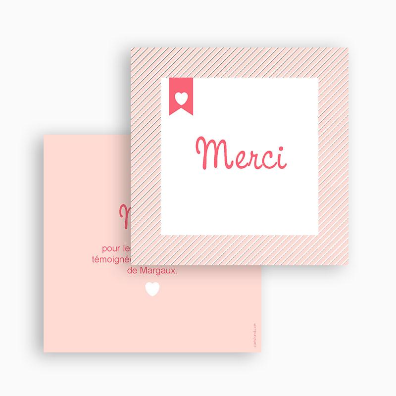 Carte remerciement naissance fille Lettre Express gratuit