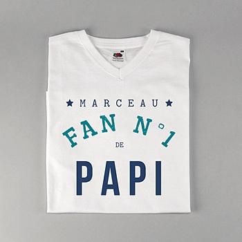 Tee-shirt homme fan de papi personnalisé