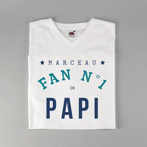 Tee-shirt personnalisé photo Fan de Papi