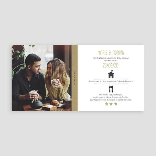 Faire-Part Mariage Personnalisés - Etoiles noires et dorées 49726 preview
