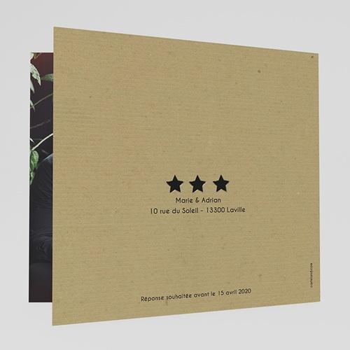 Faire-Part Mariage Personnalisés - Etoiles noires et dorées 49727 preview