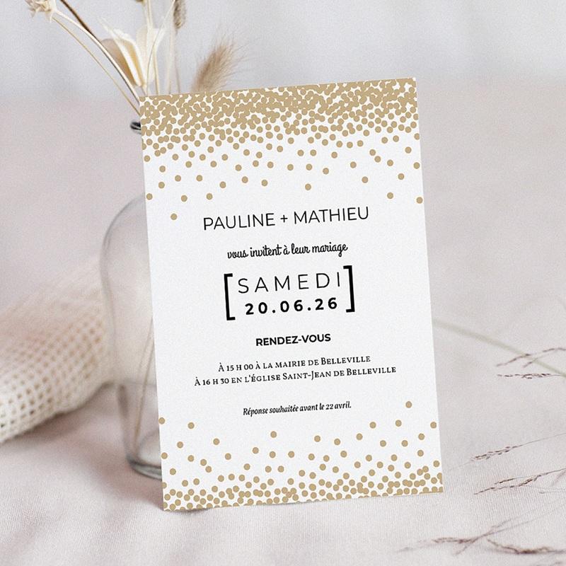 Faire-Part Mariage Pailleté