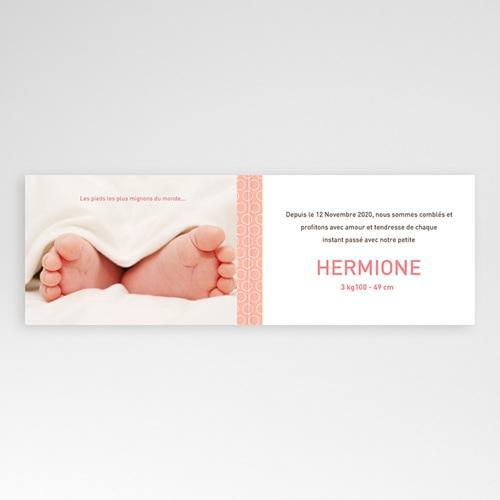 Faire-Part Naissance Fille - Hermione 498 thumb