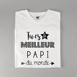 T-Shirt Fête des pères Best Papi