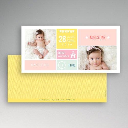 Faire-part Baptême Fille - Façon planning 49845 thumb