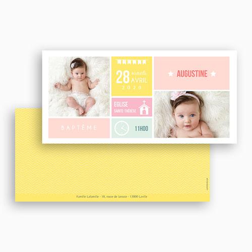 Faire-part Baptême Fille - Façon planning 49846 thumb