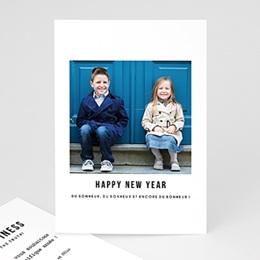Carte de voeux Happy new year Bonheur, bonheur et encore bonheur