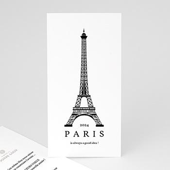 Carte de voeux entreprise Paris Voeux personnalisé